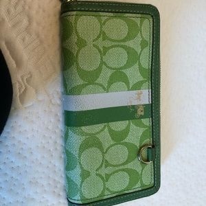 Lime Green Coach wallet